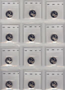 Collection Of Proof Quarters 25-cents …not Proof-like, Not Specimen, Proof…