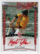 Tophitsgift 2014 Leaf Perfect Game Kyle Tucker Astros Auto 5/5 Honoringsally