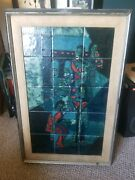Harris Strong Tile Art 50s Retro Mid Century Huge Vintage Rare Abstract