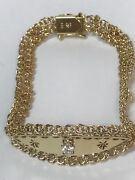 14 Kt Yellow Gold Bracalet With Diamond And Ruby 7 Inc Itandrsquos 11 Gr Hand Madeandnbsp