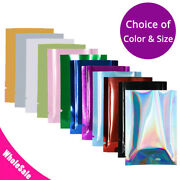 Variety Of Colors And Sizes Flat Mylar Foil Heat-sealable Open Top Pouch Bag M1