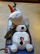 New Disney Frozen Olaf Plush Doll Pull Apart And Talkinand039 Olaf 15 Tall