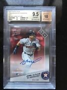 2017 Topps Now Houston Astros Ps-47d And039d /10 Red Jose Altuve Auto Bgs 9.5 Qty