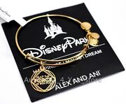 New Disney Alex And Ani Star Wars May The Force Be With You Gold Charm Bracelet