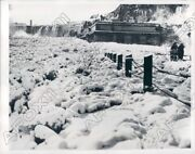 1938 Niagara Falls New York Power Plant Of Falls Frozen Solid Press Photo