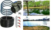 New Lake And Fish Pond Aerator System 4-1/4 Thick Diffusers 300' Sink Tube +valve