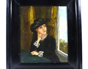 Fine Painting In Frame Lady Portrait Picture 19 Jh Collection Dissolution