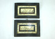 Two Pictures In Wood Frame France 17 Jh Picture
