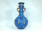 Large Rare Grooved Vase Villeroy And Boch Mettlach 1889