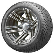12 Rhox Rx360 Machined Golf Cart Wheels And Low Profile Tires Combo Set Of 4