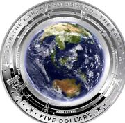 2018 5 Coloured Silver Proof Domed Coin, The Earth And Beyond Now Sold Out