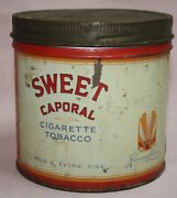 Vintage Sweet Caporal Imperial Tobacco Co. Canada Ltd. 1/2 Lb. Round Tin / Can