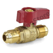 1/2 Flare Brass Gas Shut-off Ball Valve, Natural-ng Or Propane-lp, Csa Approved