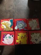 Pokemon Lot Of 6 Limited Edition 23k Gold Plated Trading Card Original Boxes