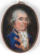 Portrait Of A High-ranking German Officer Royalty, Miniature, 1760