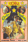Texas Cowboy Reunion Stamford Texas Rodeo Cowboy Cowgirl Vintage Rodeo Posters