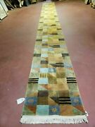 2and039 1x 19and039 6 Vintage Hand Made Tibetan Nepal Chinese Wool Runner Rug 60 Lines