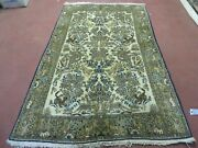 4and039 X 6 Hand Made India Oriental Fine Pictorial Tree Of Life Wool Silk Rug Wow