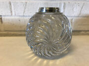 Antique Frederick Bradford Mccrea Sterling Silver Mounted Glass Paperweight Vase