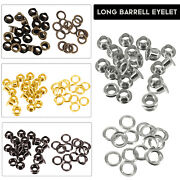 Brass Eyelet With Washer Long Barrell Leather Craft Repair Grommet 4mm-14mm