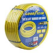 Goodyear Rubber Air Hose 50and039 Ft. X 3/8 In. 250 Psi Air Compressor Hose 12672
