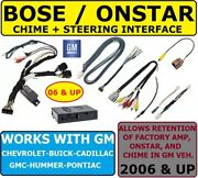 Bose-onstar-amp-swc Adapter For 2006 Andup Gm Car Stereo Radio Module Installation
