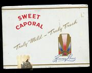 Vtg. Sweet Caporal Cigarettes- Imperial Tobacco Tin/case Canada Flat 50 Tin 1