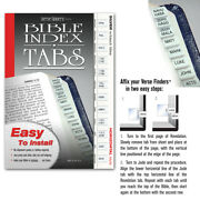 Bible Index Tabs Silver Verse Finders Labels Long Lasting Bible Tabs Made In Usa