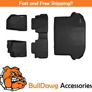 All Weather Floor Mats 2 Row Set And Cargo Liner Bundle For Nissan Murano Black