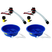 Blue Bowl Concentrator Kit Dual Pack With Pump And Battery Clips Gold Prospecting
