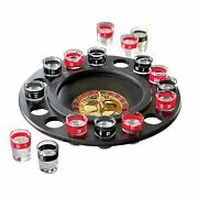 Shot Glass Roulette Drinking Game - Includes 16 Shot Glasses Spinning Wheel And