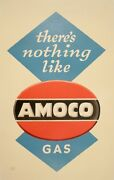 Original Vintage Poster Thereand039s Nothing Like Amoco Gas By Lucian Bernhard 50and039s
