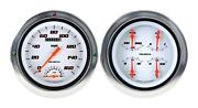 1954-1955 Chevrolet Chevy Truck Direct Fit Gauge Velocity White Ct54vsw62