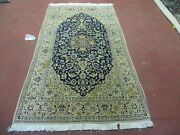 4' X 6' Hand Made Ultra Fine India Floral Oriental Wool Silk Rug Hand Knotted