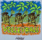 New Habitat Primitive Volleyball T-shirt White Shirt Size Large W/tags