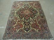 4' X 6' Antique Ultra Fine Hand Made India Floral Oriental Wool Rug Carpet Nice