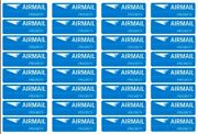 160pcs Air Mail Stickers Priority Shipping Labels Blue Airmail Par Avion Stamp