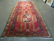 4and039 10 X 11and039 Antique Hand Made Turkish Kazak Wool Rug Shield Hand Knotted Red
