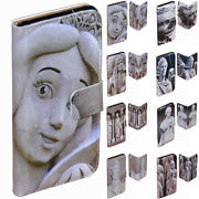 For Oppo Series - Stone Sculpture Theme Print Wallet Mobile Phone Case Cover 1