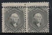 Usa 78b Mint Double Perforation Pair Variety With Certificate