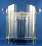 Clearance Moet Chandon Liqueur Glass Petite Ice Bucket Advertising Collectable