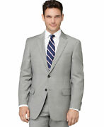 Tommy 2020 Menand039s Grey Sharkskin Classic-fit Suit