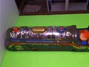 Vintage Old Battery Operated Silver Mountain Flash Train Engine Tin Toy Japan