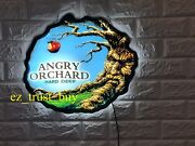 Rare New Angry Orchard Hard Cider Beer Logo Bar Led 3d Light Lamp Neon Sign 17