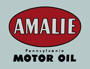 Tin Sign Amalie Motor Clean Gas-oil Games Signs Rustic Wall Decor Garage Tool