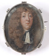 Brooch With Miniature Portrait Of A Young French Aristocrat, 17th Century