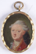 Portrait Of A Young Aristocrat, High Quality German Miniature, 1750/60