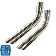 70-75 Stainless Steel Tailpipe Exhaust Extensions 2-1/2andrdquo To 2-1/2andrdquo Slip Fit Tp8