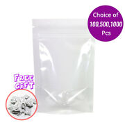 3.5x5in High Quality Clear Plastic Mylar Stand Up Zip Lock Bag W/ Desiccant R02