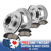 For 2013 - 2019 Ford F250 F350 Front And Rear Brake Disc Rotors And Ceramic Pads